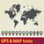 world map icon 2 stock photo © smoki