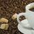 koffiebonen · suiker · specerijen · top · ruimte - stockfoto © smoki