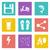 color icons for web design set 27 stock photo © smoki