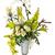 virágcsokor · üveg · váza · izolált · fehér · víz - stock fotó © smuay