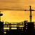塔 · クレーン · 曇った · 空 · ショット - ストックフォト © smuay
