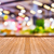 old wooden table with blur light bokeh background stock photo © smuay