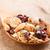 cuchara · de · madera · nueces · blanco · fondo · desayuno · comer - foto stock © smuay