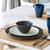 tabela · conjunto · para · cima · refeição · talheres · flor - foto stock © smuay