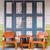 öreg · zöld · szoba · beton · fal · fapadló - stock fotó © smuay