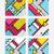 красочный · Поп-арт · набор · геометрическим · рисунком · ярко · блоки - Сток-фото © softulka