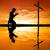 man · kruis · strand · god · golven - stockfoto © sognolucido