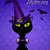 gato · preto · assustador · assustador · arrepiante · horror - foto stock © sognolucido
