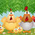 funny hen with her family stock photo © sognolucido