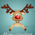 funny reindeer for christmas stock photo © sognolucido