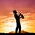 Музыканты · закат · иллюстрация · силуэта · природы · весело - Сток-фото © sognolucido
