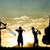 バイオリニスト · 日没 · 実例 · 女性 · 自然 · 楽しい - ストックフォト © sognolucido