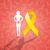 yellow ribbon for endometriosis stock photo © sognolucido