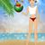 bikini · watermeloen · mooie · pinup · bikinimodel - stockfoto © sognolucido
