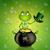 ünnep · béka · zöld · kétéltű · visel · karácsony - stock fotó © sognolucido