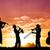 emberek · naplemente · illusztráció · természet · jókedv · napfelkelte - stock fotó © sognolucido
