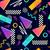 eighties seamless pattern vector stock photo © solarseven
