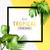 egzotikus · trópusi · nyár · keret · pálmalevelek · virágok - stock fotó © solarseven