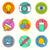 creative vector icon set stock photo © solarseven