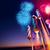 幸せ · 花火 · 表示 · 市 · カラフル - ストックフォト © solarseven