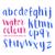 watercolour brush letters stock photo © solarseven