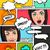 comic speech bubbles and emotions stock photo © solarseven