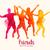 aquarel · springen · mensen · vector · groep · gelukkig - stockfoto © solarseven