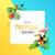 trópusi · keret · terv · színes · vibráló · virágok - stock fotó © solarseven