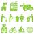 verde · eco · sostenibile · casa · icona · immobiliari - foto d'archivio © soleilc