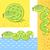 зеленый · змеи · Cartoon · смешные · счастливым · природы - Сток-фото © sonia_ai
