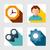 fundamenteel · web · icon · ingesteld · retro · kleur · vierkante - stockfoto © sonia_ai