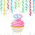 cupcake with hearts and streamer stock photo © sonia_ai