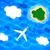 飛行 · 雲 · 画像 · 平面 · 山 - ストックフォト © sonya_illustrations