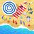summertime top view illustrations stock photo © sonya_illustrations