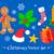retro · christmas · collectie · iconen · ingesteld · retro-stijl - stockfoto © sonya_illustrations
