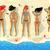 verão · mulher · mar · água · praia · feliz - foto stock © sonya_illustrations