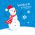 snowman and snowflakes stock photo © sonya_illustrations