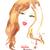nina · dibujado · a · mano · aislado · blanco · escrito - foto stock © sonya_illustrations