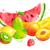 vízfesték · színes · illusztráció · szett · friss · gyümölcs · kézzel · rajzolt - stock fotó © sonya_illustrations