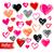 toplama · valentine · kalpler · Yıldız · çiçekler · kelebekler - stok fotoğraf © sonya_illustrations
