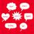 Noel · konuşma · balonu · ayarlamak · beyaz · eğim - stok fotoğraf © sonya_illustrations