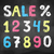 chalked collection of numbers stock photo © sonya_illustrations