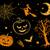 halloween · colección · dibujado · a · mano · color · naranja · dulces - foto stock © sonya_illustrations