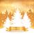alegre · Navidad · vintage · caer · nieve · dorado - foto stock © sonya_illustrations