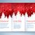 red and white christmas leaflet design stock photo © sonya_illustrations