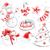 dibujado · a · mano · colección · Navidad · objetos · lápiz · acuarela - foto stock © sonya_illustrations