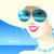 verão · sol · óculos · de · sol · vetor · desenho · animado - foto stock © sonya_illustrations