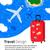 aviador · projeto · vermelho · viajar · saco · férias · de · verão - foto stock © sonya_illustrations