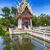 templom · tavacska · kép · kicsi · víz · fa - stock fotó © sophie_mcaulay