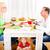 gelukkig · gezin · blond · meisje · eten · brood · voedsel - stockfoto © spectral
